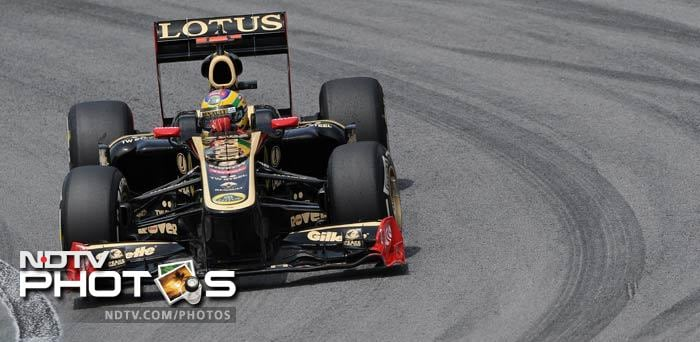Bruno Senna in his Renault finished with the 9th best time on his home circuit.