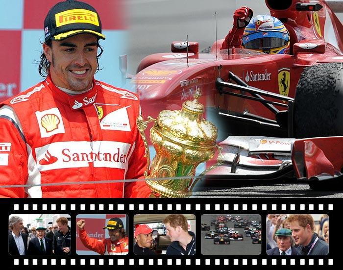Fernando Alonso delivered Ferrari's long-awaited first win of the 2011 season on Sunday when he made the most of unpredictable and challenging wet-dry conditions to triumph at the British Grand Prix.