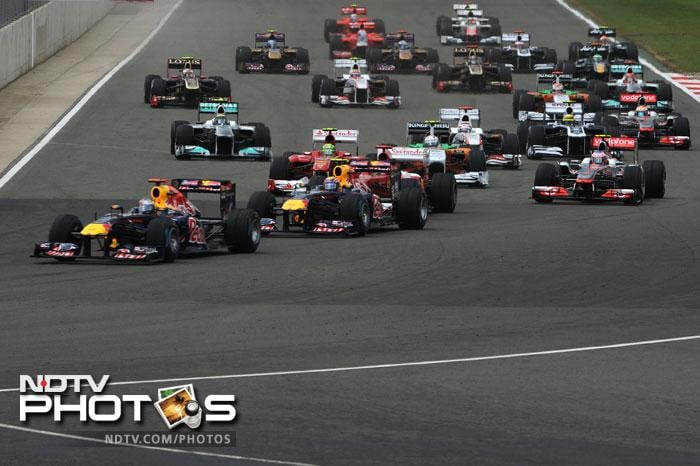The two led the way in the first half of the race and another great result seemed to be on the cards for Red Bull.