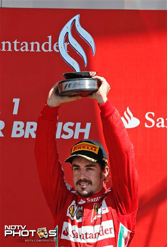Fernando Alonso closed the gap in the overall standings on Vettel, who has 132 points while the Spaniard is on 111 after eight races with the next race the German Grand Prix next Sunday.