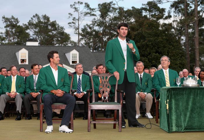 """A small-town guy named Bubba now has two green jackets. That's pretty wild,"" said the visibly cheerful Watson in the post-tour ceremony."