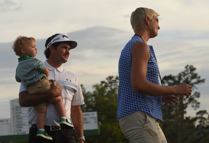 The 35-year-old Watson had his wife and young son for company as they celebrated his big win.