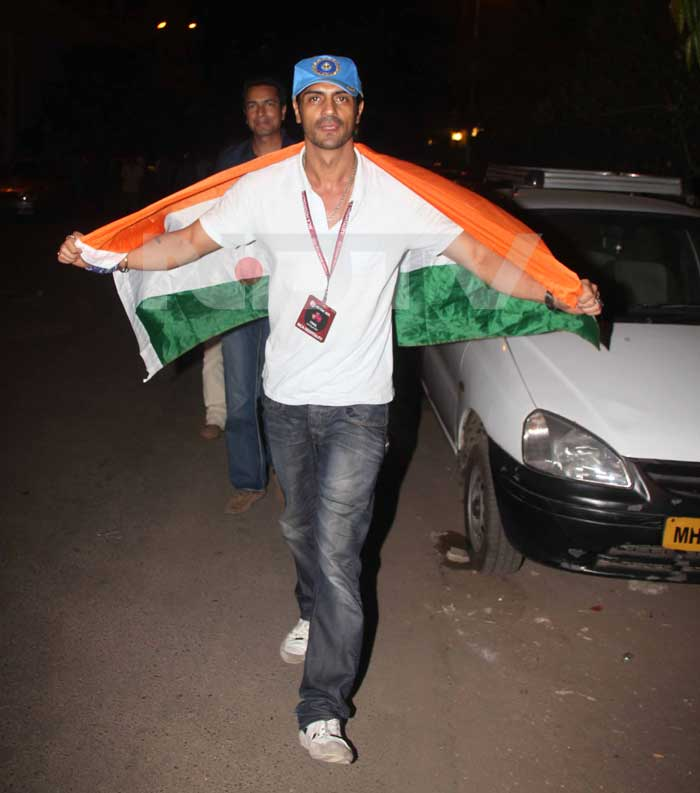 Arjun Rampal is all set to party at Sidhwani's World Cup party.<br>(Photo Courtesy: Varinder Chawla)