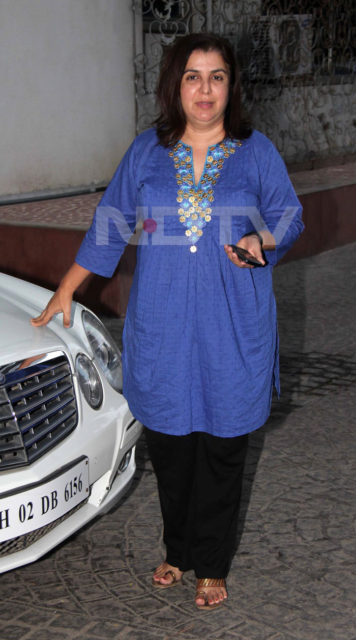 Farah Khan gears up for the match.<br>(Photo Courtesy: Varinder Chawla)