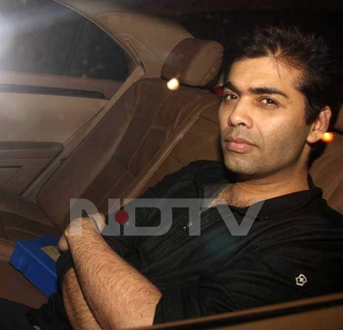 Karan Johar drives in solo.<br>(Photo Courtesy: Varinder Chawla)