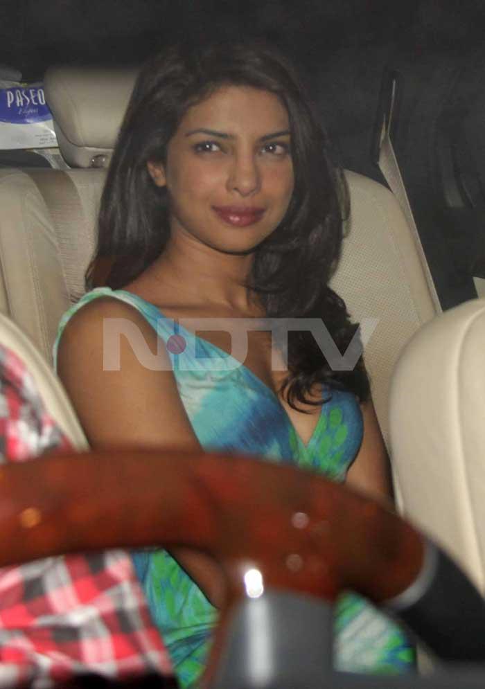 Priyanka Chopra also made her way to the party.<br>(Photo Courtesy: Varinder Chawla)