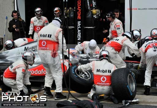 Britain's Button though came in and got himself a set of full wet tyres at the end of the 20th lap along with many others. His teammate in Lewis Hamilton had already crashed out in the seventh lap.