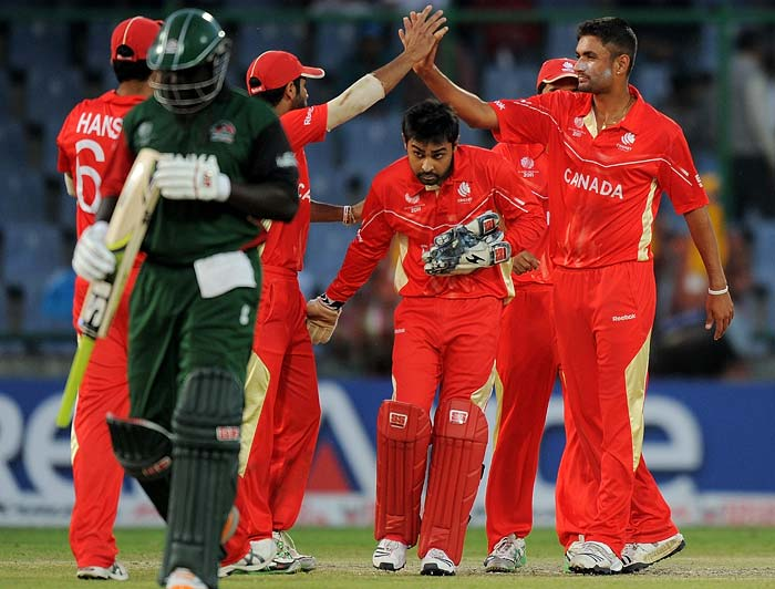 Once Mishra departed though, it was a flurry of wickets once again as Kenya managed to scrape up a total of 198. Osinde finished with four wickets.
