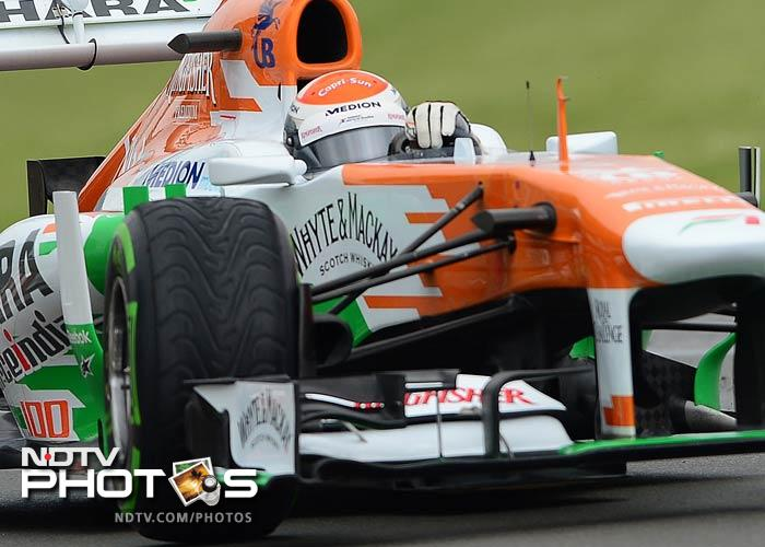 Adrian Sutil continued to impress in his Force India, qualifying eighth, while his teammate Paul di Resta took the 17th position on the grid for Sunday's Grand Prix.