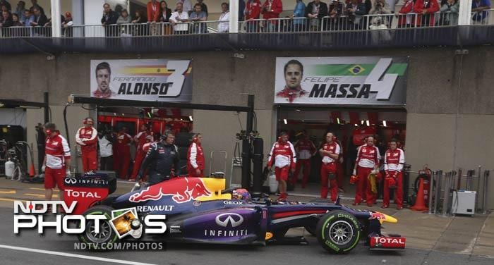 Sebastian Vettel said he is not worried about the conditions or the weather forecasts for Sunday's Canadian Grand Prix after claiming his third consecutive pole position for the race at the Circuit Gilles Villeneuve. <br><br> The defending triple world champion and current series leader said he felt confident about his Red Bull car and performance in both dry and wet conditions.