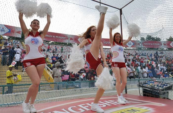 While we concentrate on players, let's not forget the cheergirls.<br><br>Some of the cheergirls at the boundary rope are so fit and enthusiastic that they can challenge the fittest of players in a battle of agility. (BCCI image)