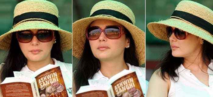 Looks like Punjab's rather dismal performance has even had co-owner Preity Zinta prefers reading a book at times, at the stadium! Just speculation of course. (BCCI image)