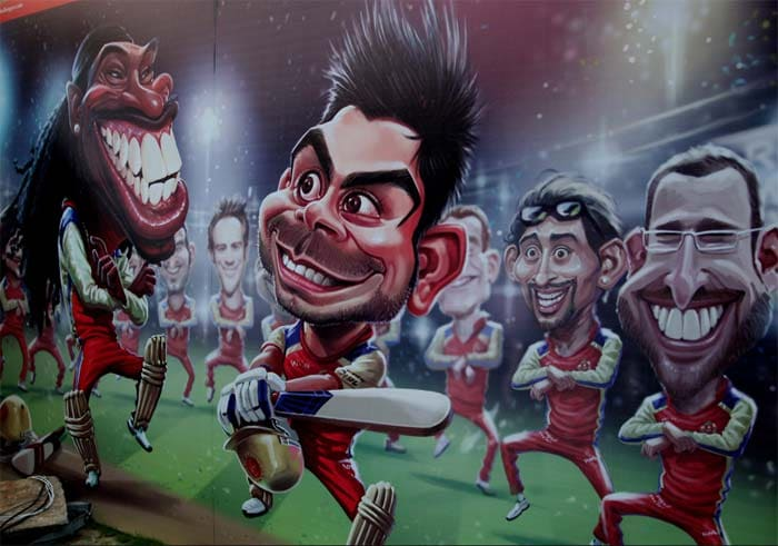 Continuing with RCB, here is a caricature of the prolific and well-known stars of the team. (BCCI image)