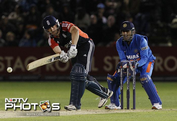England didn't let up despite the target being revised to an even more challenging 241 from 34 overs after rain interruptions. Often criticised for being too slow for ODIs, Jonathan Trott joined captain Alastair Cook at the crease and slammed 63 off 60 balls, with two sixes and three fours.