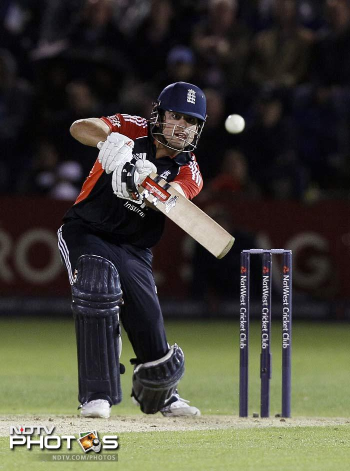 Despite a huge task at hand, a 305-run target, England began confidently with Cook taking the charge after the early dismissal of Craig Kieswetter.
