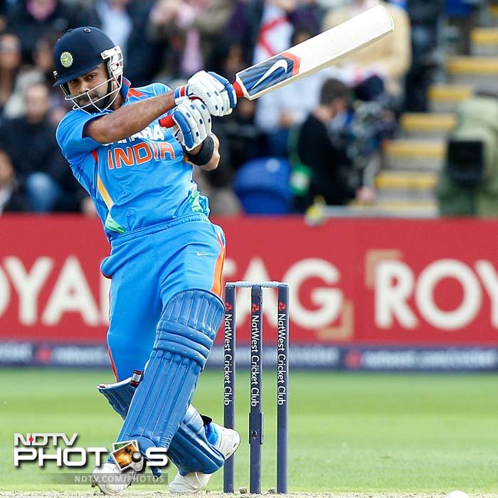Kohli looked good to steal the limelight from Dravid. He was successful to a large extent through his confident shots to the boundary and over it.