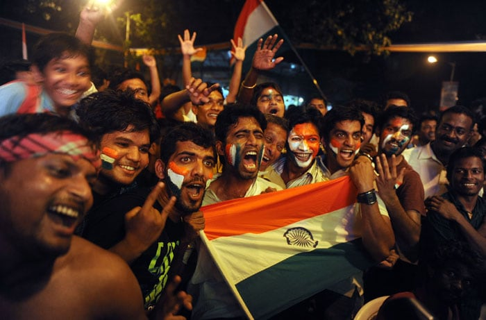 They spill on to the streets in jubilation! (Photo courtesy: AFP)