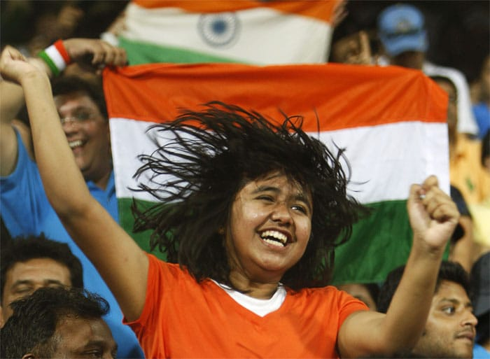 India wins the World Cup after 28 long years and the men in blue do us proud. Fans go crazy... (Photo courtesy: AP)