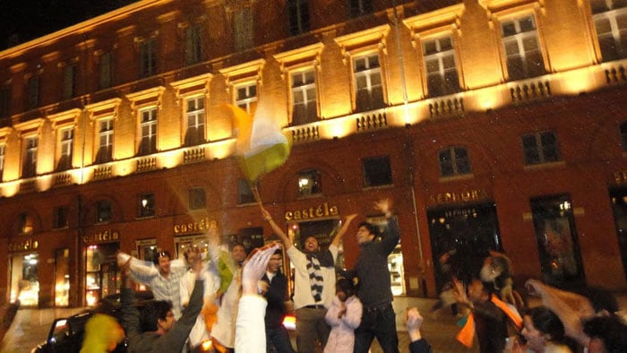 Emotions ran high in Toulouse, France as India won the World Cup.