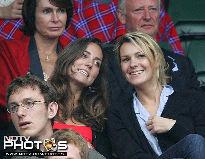 Then girl-friend of Prince William and now his wife, Kate Middleton, now Catherine, Duchess of Cambridge, graced the Wimbledon in 2008.