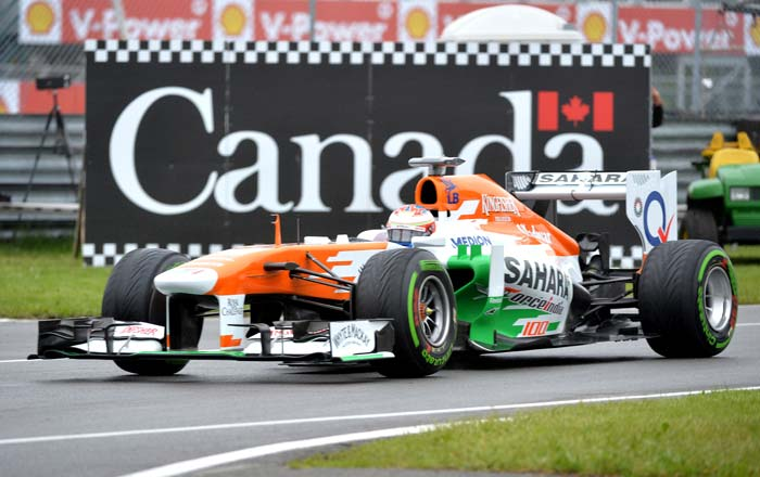 Force India had a good outing with Paul di Resta coming in 7th place.
