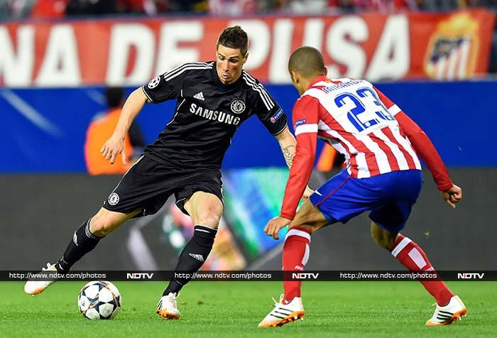 Atletico Madrid and Chelsea will have it all to play for when they meet in the second leg of their Champions League semi-final in London next Wednesday after a 0-0 draw in the first leg at the Vicente Calderon on Tuesday. (All AFP and AP images)