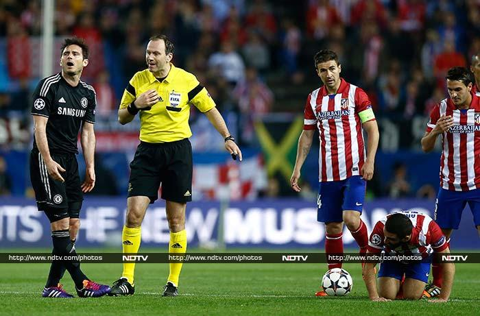 Frank Lampard and John Obi Mikel will be missing for Chelsea, along with Atletico captain Gabi at Stamford Bridge as they all received yellow cards that means they are suspended for the second leg.