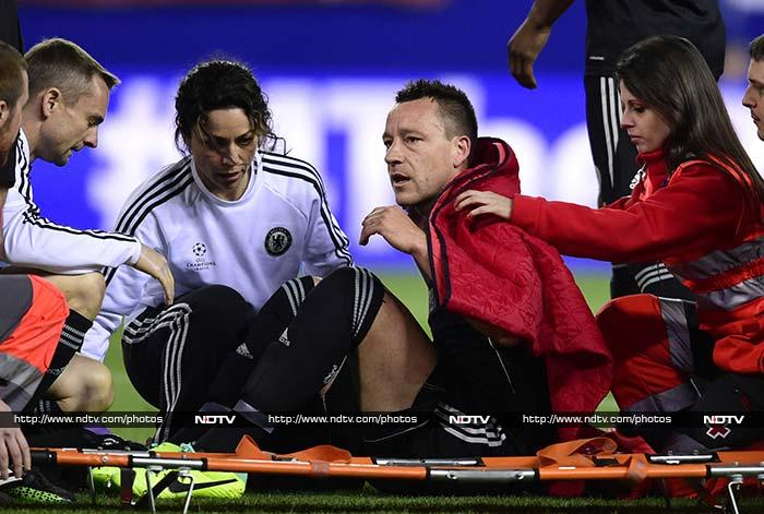 John Terry will miss the rest of the Premier League season because of a foot injury he suffered in the second-half of the match.
