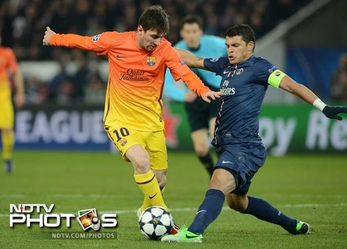 Lionel Messi scored the opening goal in the 2-2 draw between Barcelona and PSG, but suffered a hamstring injury and did not reappear for the second half.
