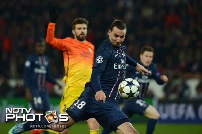 Zlatan Ibrahimovic playing against his former club, scored a dubious goal for PSG, with replays suggesting he was offside.