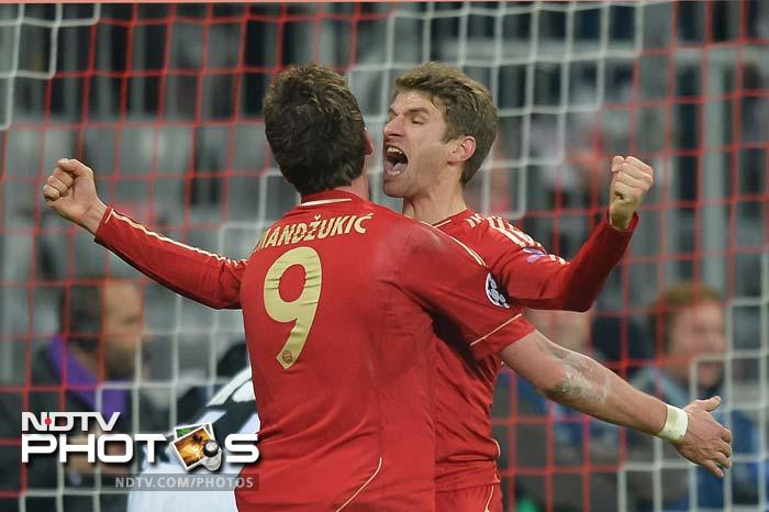 Austrian defender David Alaba scored within the first 30 seconds of the match and Thomas Mueller scored the second, as Bayern brushed aside a below-par Juve.