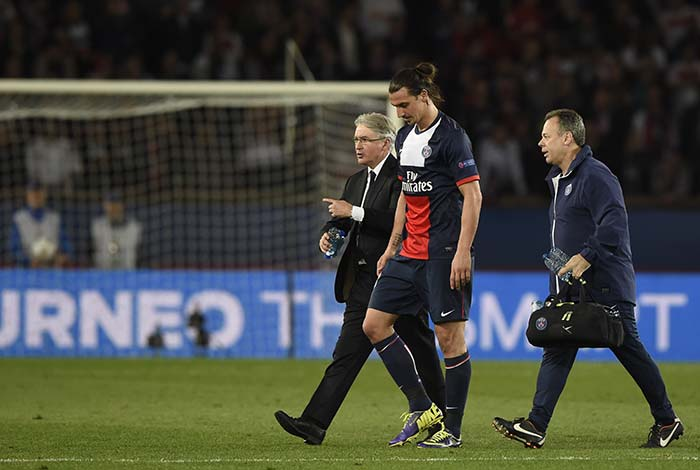 While PSG managed to score in stoppage time to extend lead, there was some bad news for the hosts as Zlatan Ibrahimovic limped off during the course of the match.