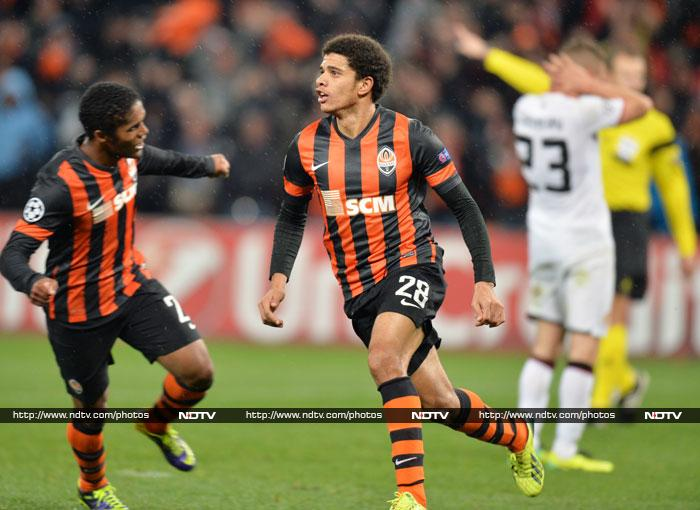 Shakhtar leveled in the 76th from Taison's volley after Nemanja Vidic failed to clear a cross.