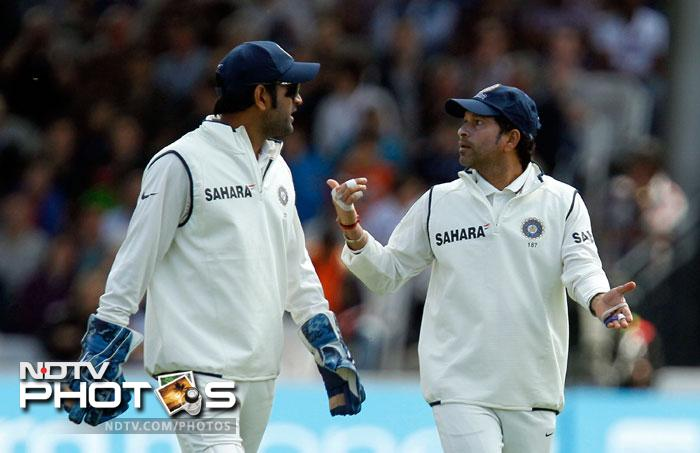 """After all the stuff on Bhajji, one fan dared to take on the Indian skipper. """"Dhoni's leadership in tests is mostly about leading the team back to the pavilion!"""""""
