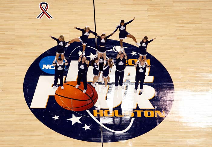 Cheerleaders in NBA reserve all their energy for the half-time which is when they showcase not just their colourful apparels but their brilliant moves and exemplary team-work driven formations.
