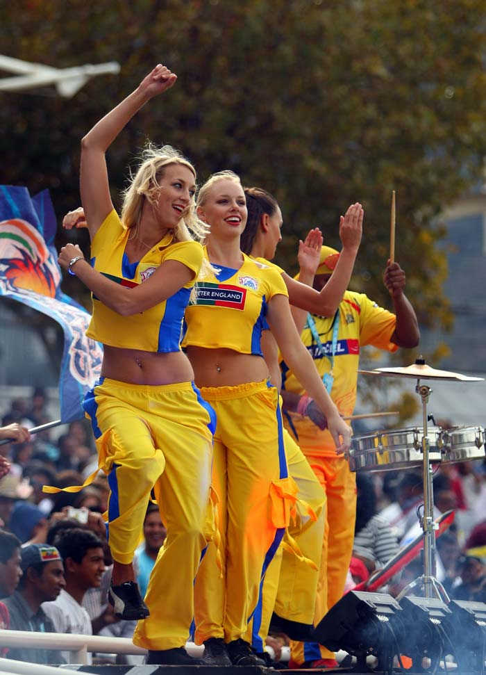 There is the small element of having a drummer set the stadium on fire with his beats or the bhangra taking control in an IPL. The cheerleaders do attract a lot of attention as they get the crowd dancing around them. (Getty Images)