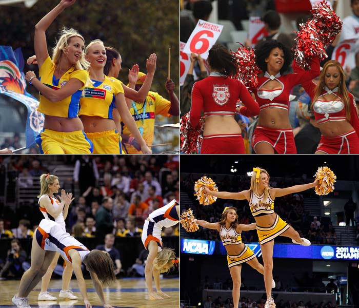 They cheer for different sports and in different countries but that is not all that separate the IPL girls from their counterparts in the United States. A cheerful look: