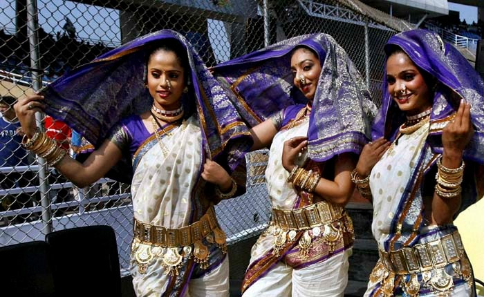 One aspect that the IPL cheergirls clearly score on is the variety. After drawing flak for short clothes in the past seasons, some teams have brought in a traditional flavour to cheerleading. Only in India!