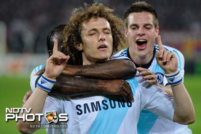 It was the last kick of the game though that sealed it for Chelsea as David Luiz, getting better and better with his free-kicks, hit a low one past Basel's wall and it deflected off the possibly blinded keeper into the goal. The Blues exulted.