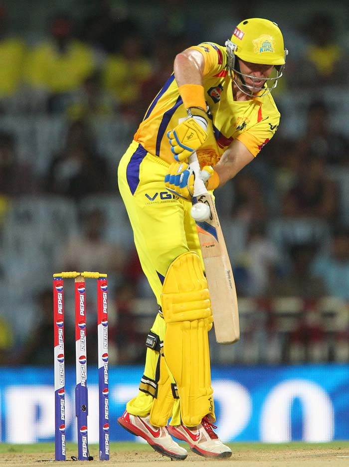 Chennai's reply was solid though - from the start. Michael Hussey once again gave a solid foundation to his side. (BCCI image)