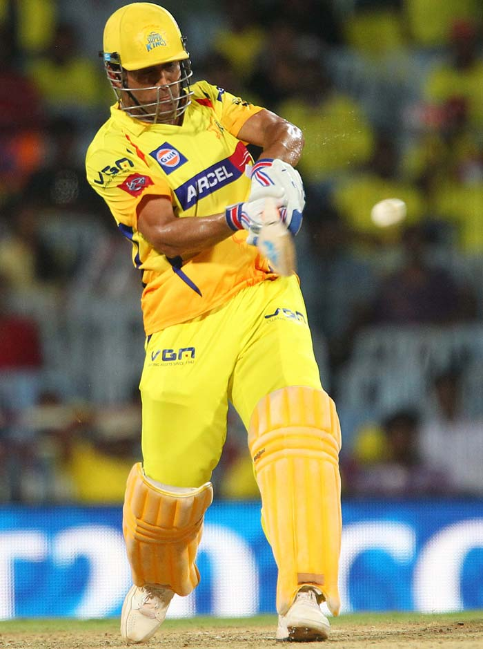MS Dhoni was at his ferocious best as his 67 off 37 took Chennai Super Kings past Sunrisers Hyderabad at Chepauk. (BCCI image)