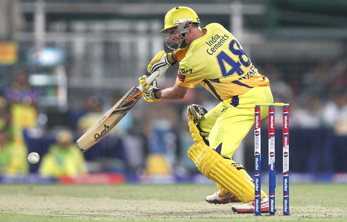 Opener Hussey though anchored the chase from his end and despite losing partners, managed to keep the scoreboard ticking. (BCCI image)
