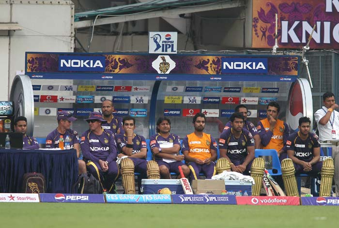 The hosts eventually folded on 119/9. The look on the faces in the dug-out expressed the opinion about the target set. (BCCI image)