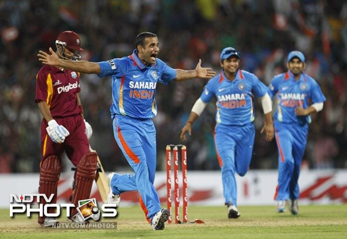 India's bowling began well as well. Irfan Pathan claimed the wicket of Lendl Simmons of the first delivery.