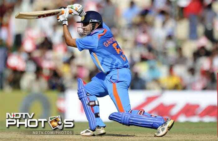 He was partnered well by Gambhir and the two put on 83 for the third wicket.
