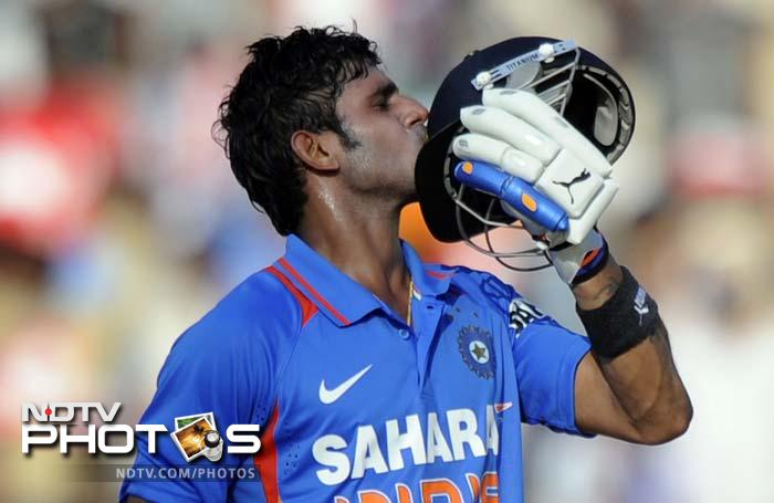 Gambhir (31) fell eventually but Tiwary carried on to bring up his first ODI fifty.