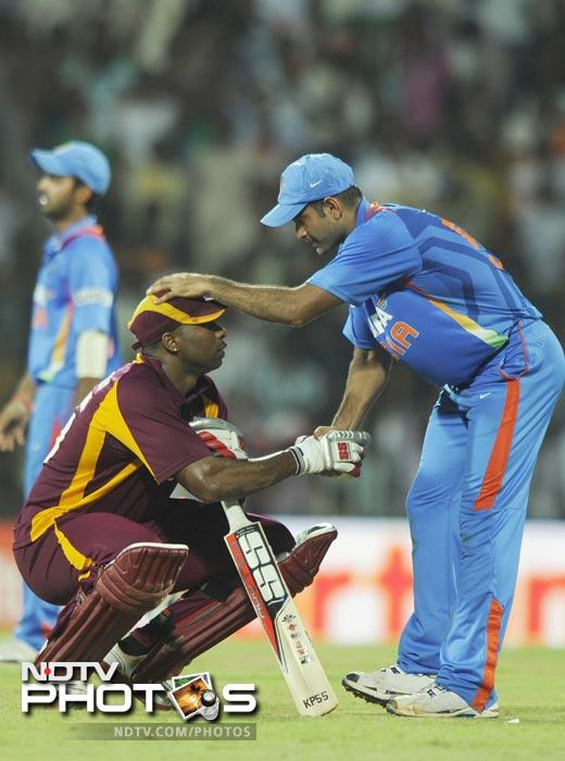 Having hit 10 sixes and having lost all but one partner, Pollard finally found the man on the legal side of the rope to give India the match by 34 runs, but not without a fight.