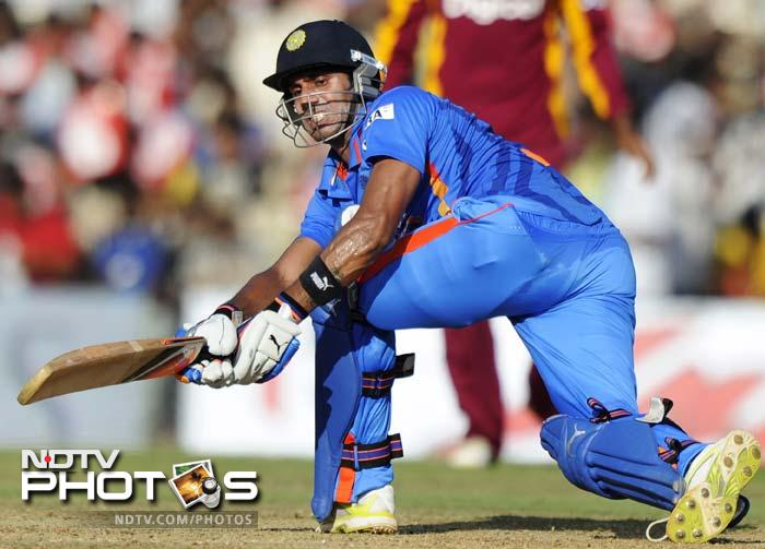 In walked Tiwary and his strategy to use his front-foot stance bode well on a pitch that kept the occasional ball keeping low.