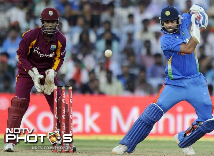 Kohli managed to bring up his fifty, though most of the runs came through singles and doubles for the Delhi batsman.