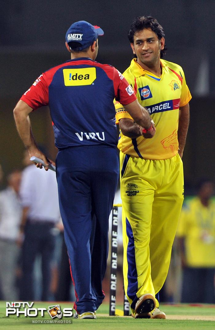 Once Murali Vijay had blasted 113 off 58 on Friday to take Chennai Super Kings to 222 against Delhi Daredevils, it was all about bowling tight. MS Dhoni's side did just that to set-up their fourth consecutive appearance in the final of Indian Premier League. (All Images: AFP and AP)